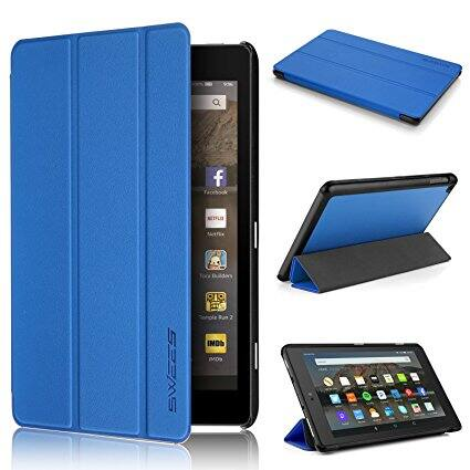 Swees $4.89 Slim Folio Protective Leather Smart Case for Amazon All New Fire HD 8 Tablet 7th generation 2017 release $4.89 shipped w/Amazon Prime