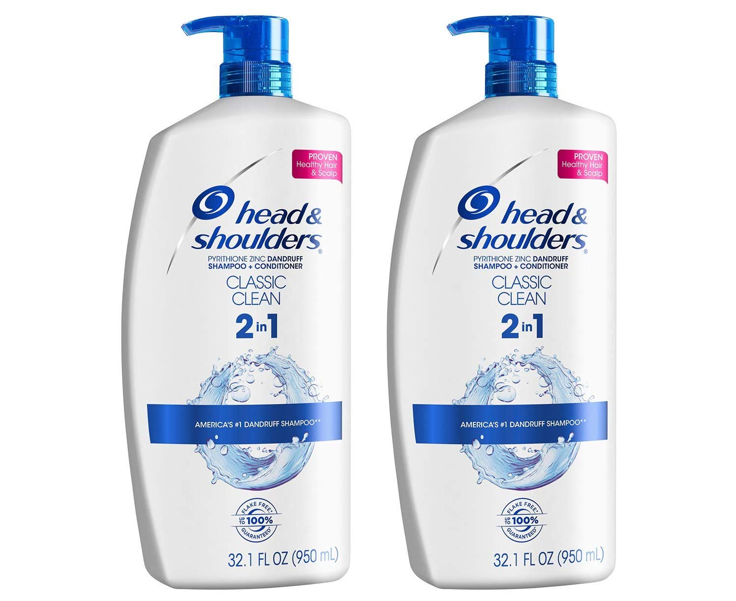 Head and Shoulders Shampoo and Conditioner 2 in 1, Classic, 32 oz Twin Pack - YMMV - $7.45