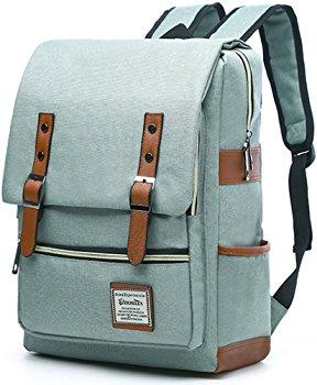 Laptop Backpack, Cavans Messenger Cross Shoulder Bag Leather Unbalance Chest Pack Backpack Sling Bag Gym Bag Sports Duffel Tote $9.99