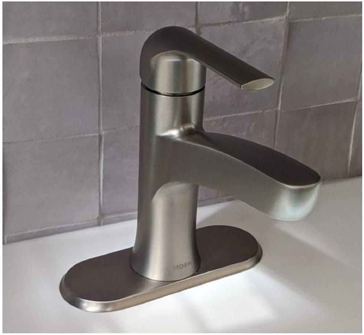 Moen Tilson Single Handle Bathroom Faucet in Brushed Nickel $19.97 @ Costco B&M YMMV (membership required)