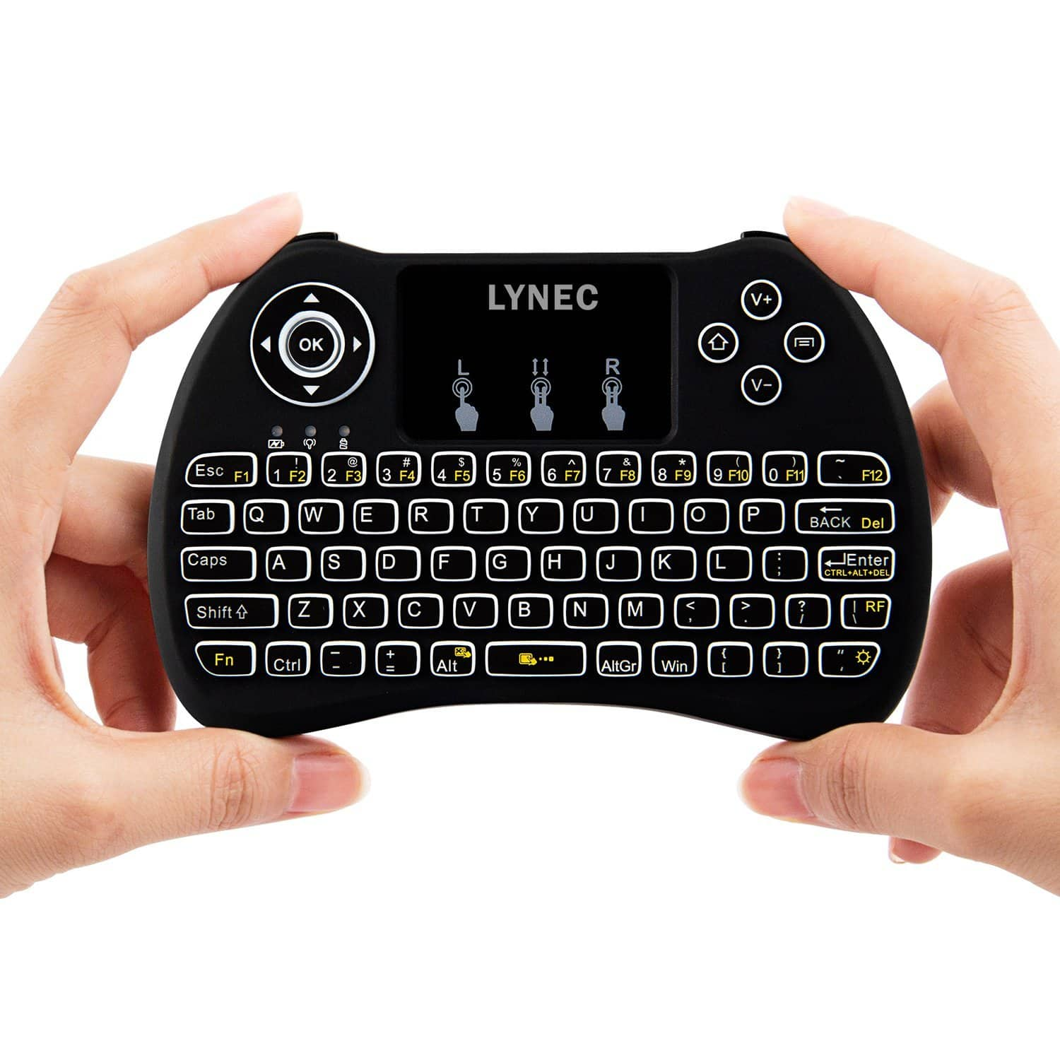 Lynec H9 Backlit 2.4GHz Mini Wireless Touch Remote Keyboard $10.99 @ Amazon