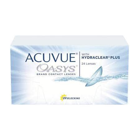 Acuvue Oasys, 2 × 24 Pack Contact Lenses (1 year supply) for $150.30 + FS