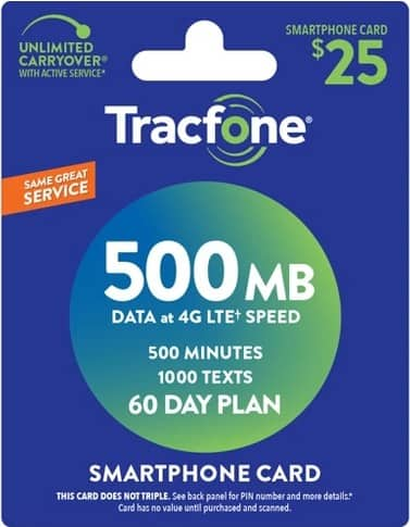 Tracfone refill triple airtime deal--Target.com $25