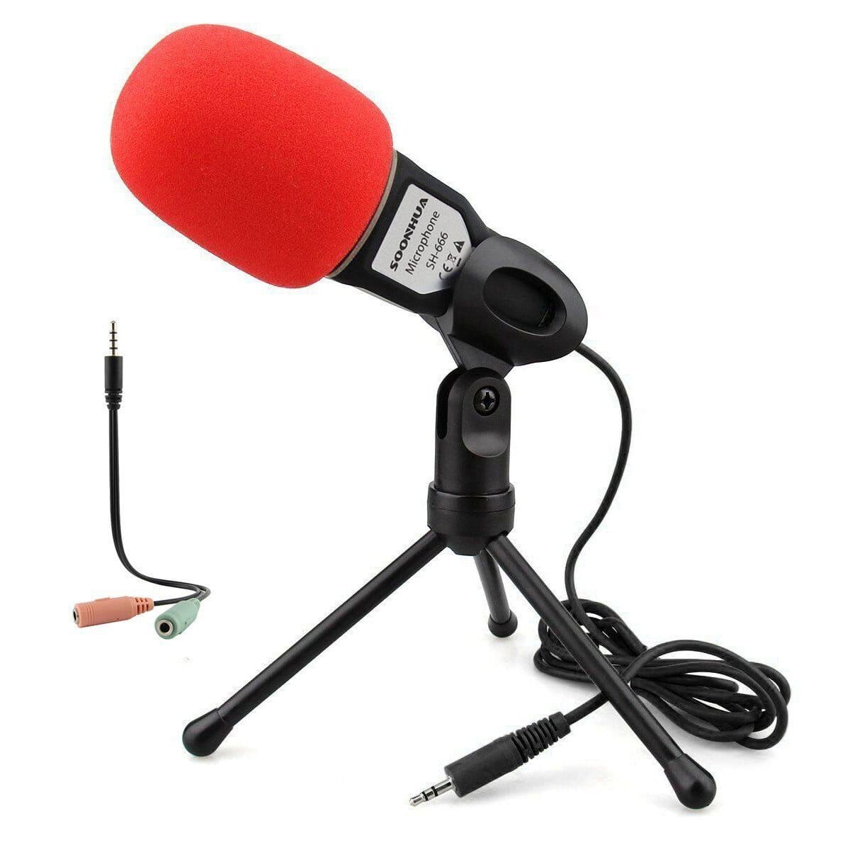 Professional Sound Microphone With Stand for PC Laptop on Amazon for $10.49 after discounted code - FS with prime
