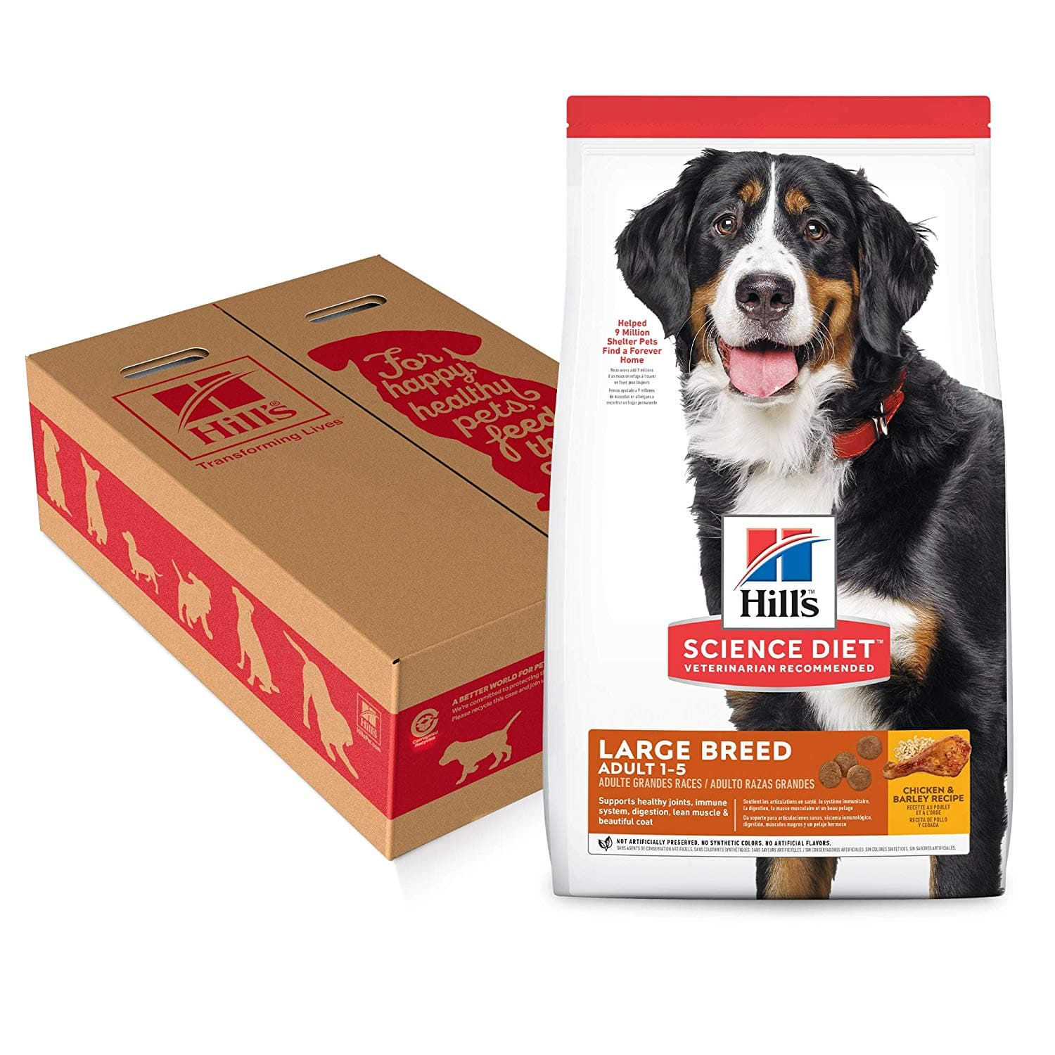 35lb Hill's Science Diet Dry Dog Food, Adult, Large Breeds, Chicken & Barley Recipe - $14 S&S F/S