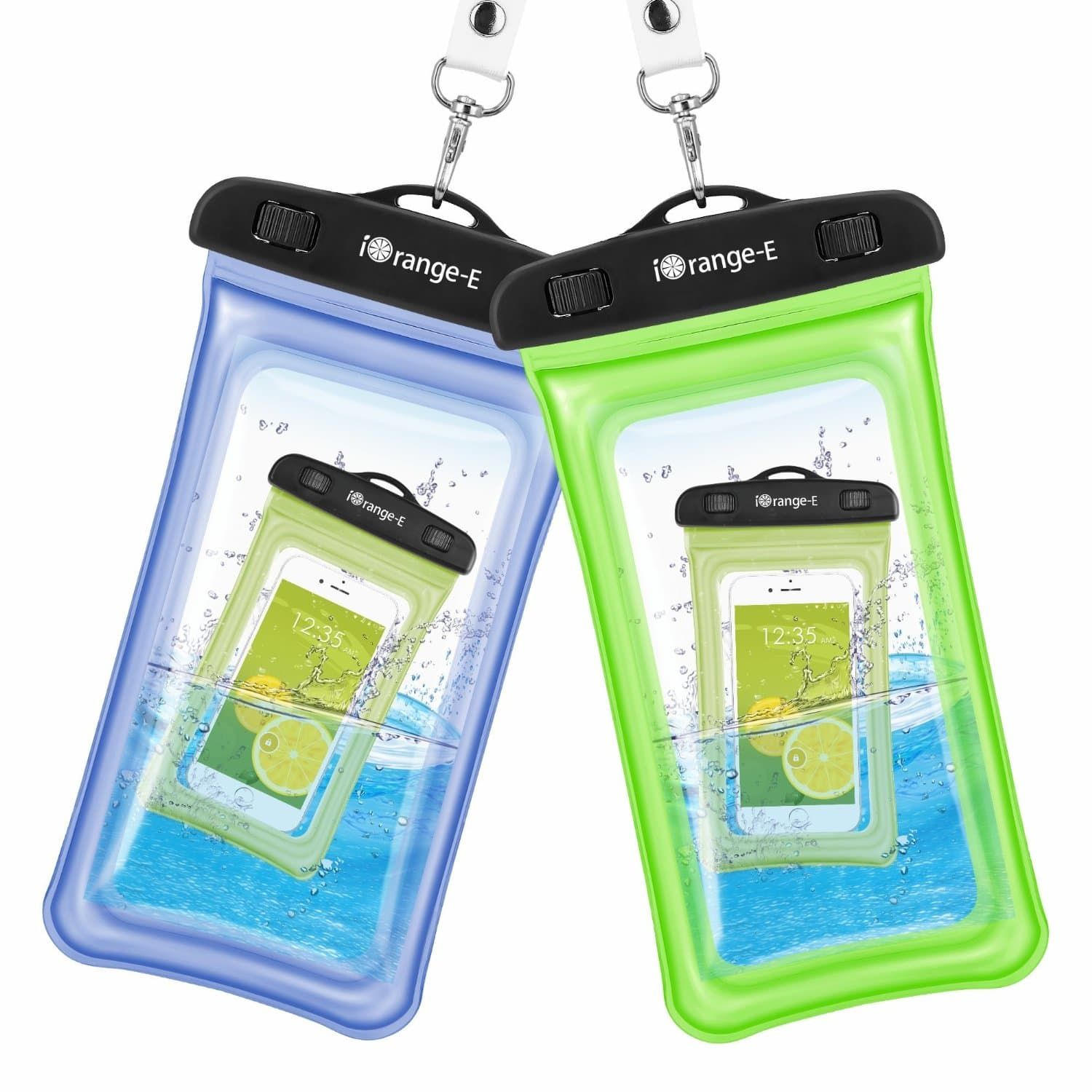 $7.99 for 2 Pack iOrange-E Clear Universal Waterproof Cellphone Case, FS w/Prime After Coupon