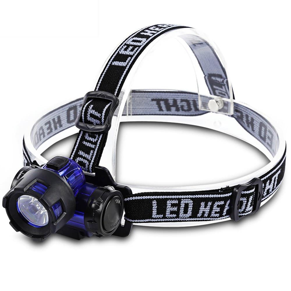 LEO Water Resistant Hiking LED Head Light Headlamp Flashlight $2.8+ free shipping