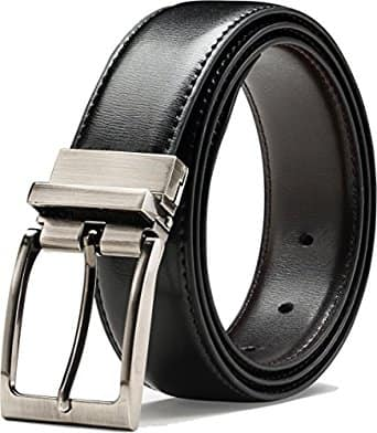 Genuine Leather Belt With Single Prong Rotated Buckle $10.2/fs