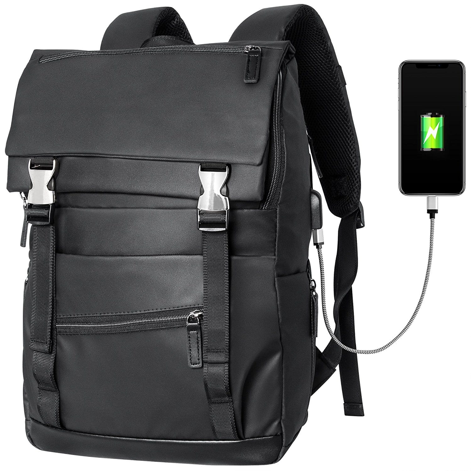 Veckle Waterproof 24.5L Laptop Backpack with USB Charging Port $19.99 free shipping w/Prime
