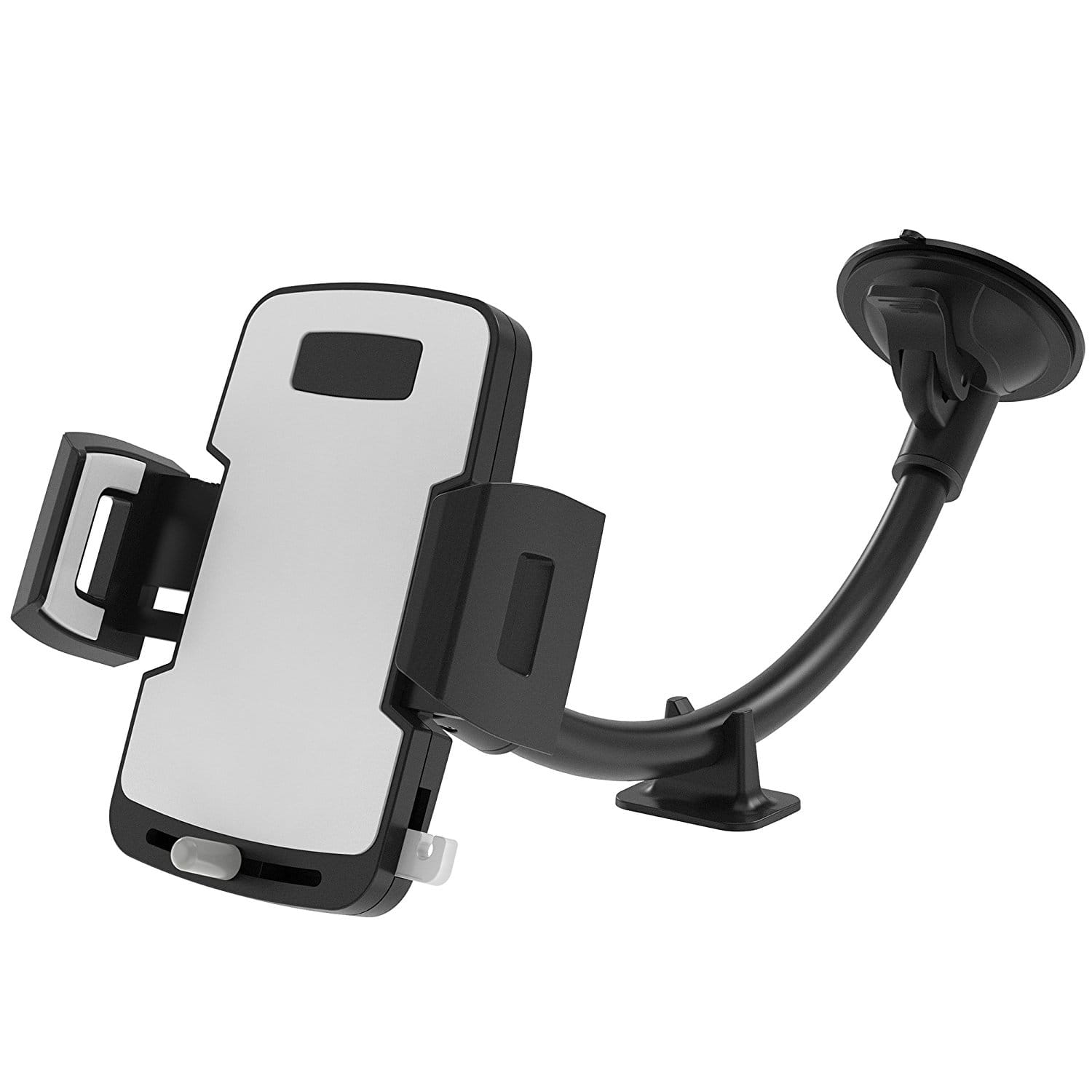 Windshield Long Arm Car Phone Mount with Stabilizer and Release Button $6.99+Free shipping w/Prime