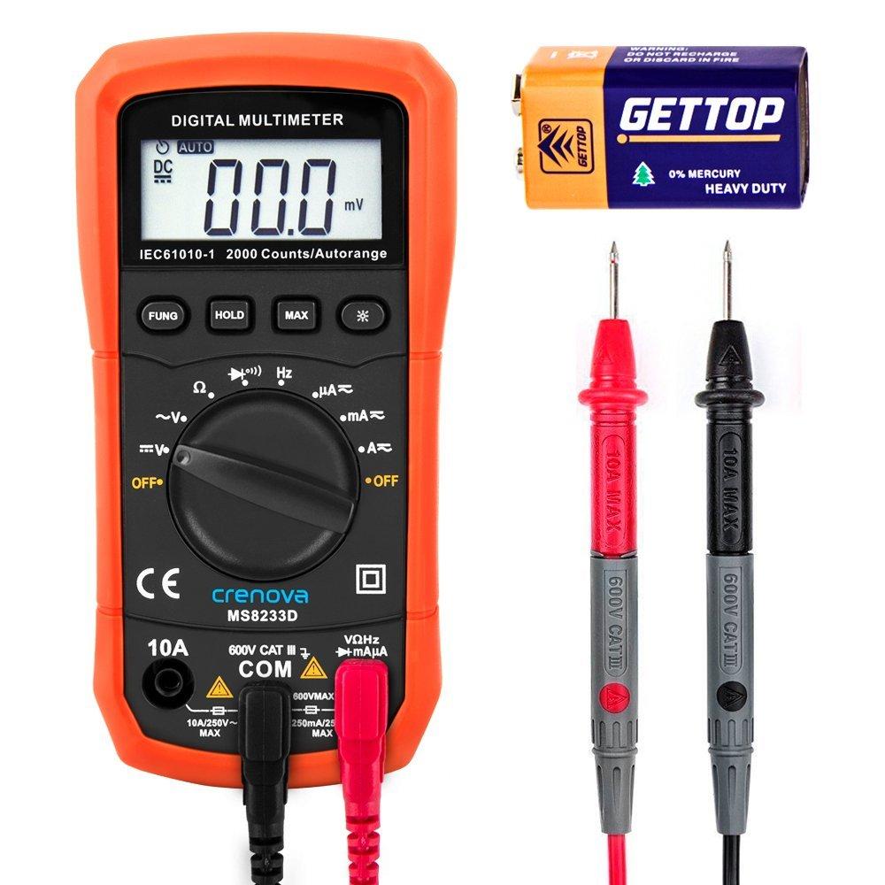 Crenova MS8233D Auto-Ranging Digital Multimeter Home Measuring Tools $7.99    + free shipping