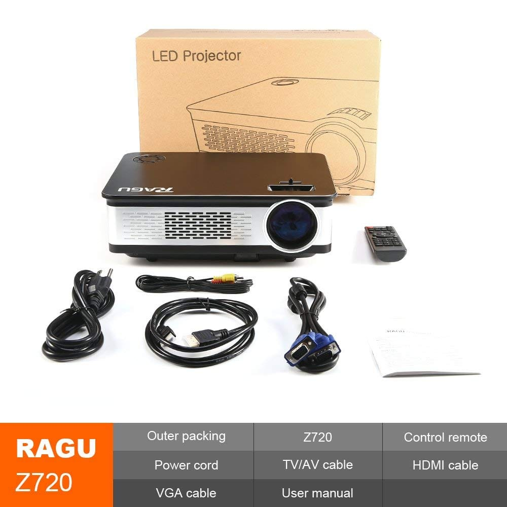 Ragu Z720 1080P HD Home Video Projector $129.79 + free shipping (35% off )