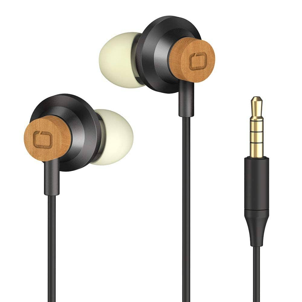 Omars Wood In-Ear Headphones Earphone $5.92 + free shipping