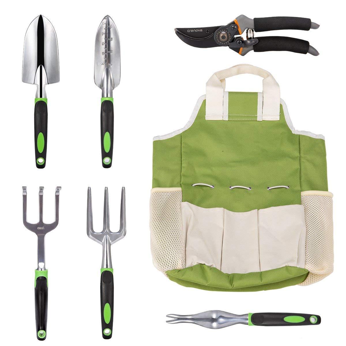 Crenova 7 Piece Garden Tools Set $17.99 + free shipping