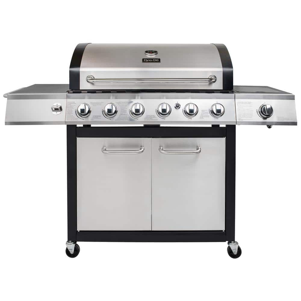 Dyna-Glo 6-Burner 78,000 BTU Propane Dyna-Glo 6-Burner 78,000Gas Grill in Stainless Steel with Side Burner $199 - In Store Only. Possibily online in a few days for 4th of July