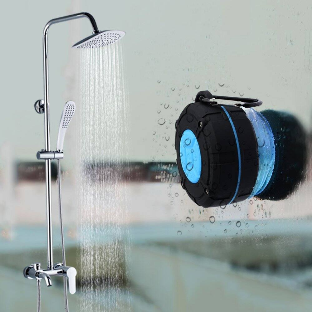 Waterproof Bluetooth Wireless Shower Portable Speaker with IPX7, Suction Cup, Speakers Built-in Microphone $10.49 AC Amazon prime