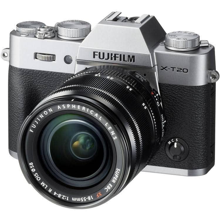Fujifilm X-T20 Mirrorless Digital Camera with 18-55mm Lens (Silver) for $824