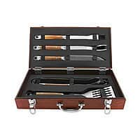 Macys Deal: Mr. BBQ 5-Piece Hand Forged Grilling Tool Set with Rosewood Case $44.99 + ship @