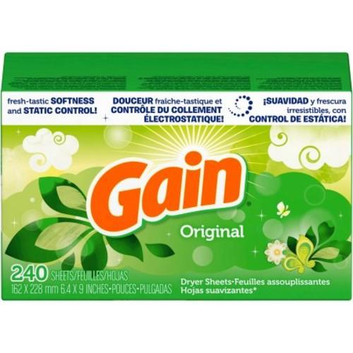 Gain Dryer Sheets, Original, 240 Sheets $5.99+ free shipping@amazon