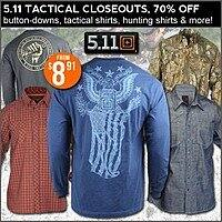 5.11 Tactical Closeout at Field Supply up to 70% off (Tactical Gloves $  24.62, Flannels $  24.41 and much more)