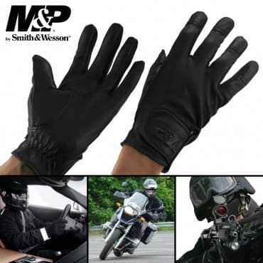 Smith & Wesson All-Purpose Premium Leather Tactical Gloves $9.99 and Free Shipping at Deal Genius