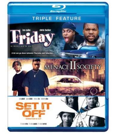 Friday / Menace II Society / Set It Off (Blu-ray Triple Feature) $3.74 at Walmart