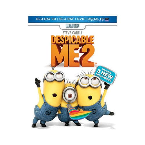Despicable Me 2 (Blu-Ray 3D + Blu-Ray + DVD + Digital HD) $10.99 at Toys R Us