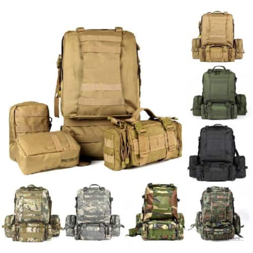 55L Molle Outdoor Military Tactical Bag for $22 FS