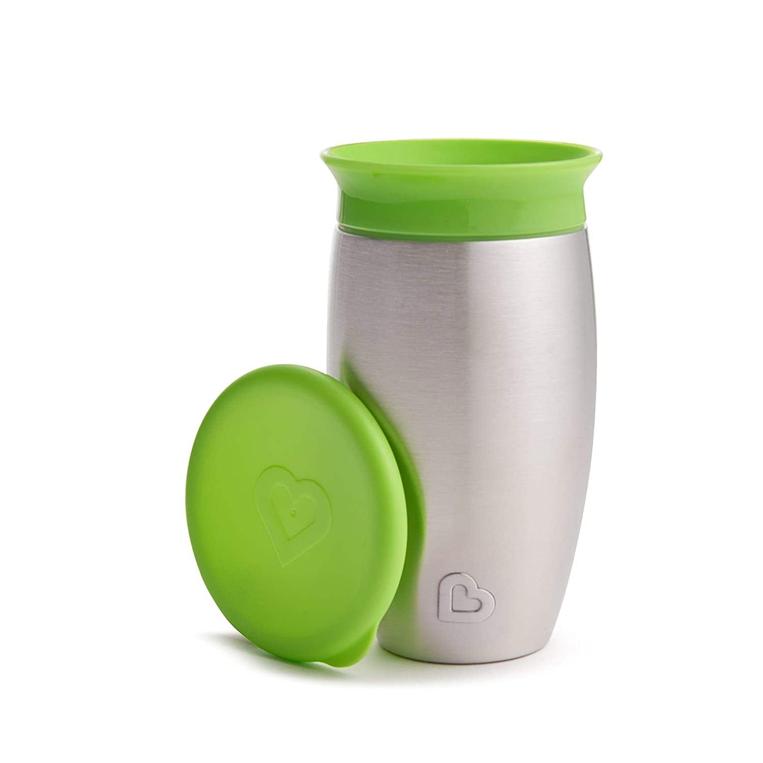 10-Oz Munchkin Miracle Stainless Steel 360 Sippy Cup (Green) $5.09 + Free S&H w/ Prime or orders $25+ ~ Amazon