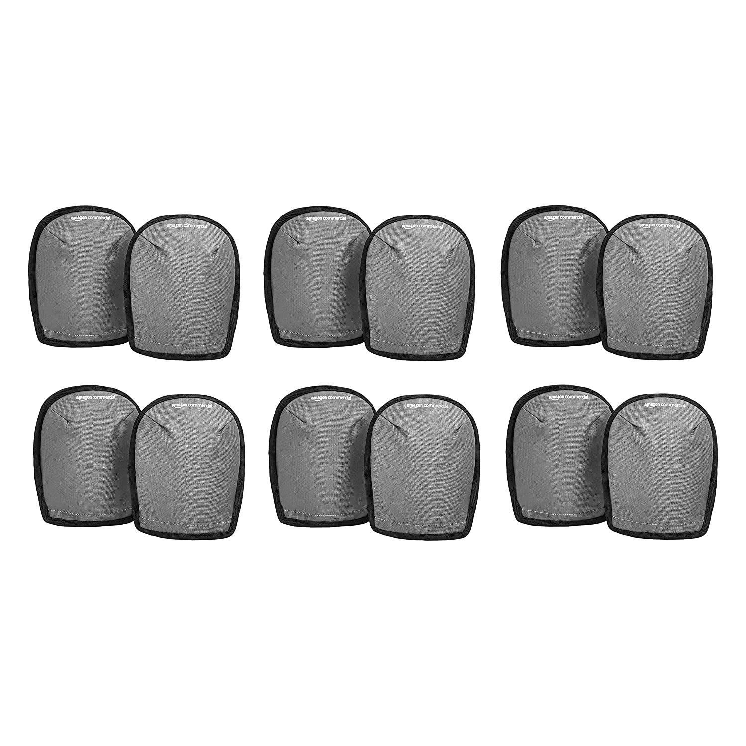 """6-Pairs AmazonCommercial 8"""" Washable Knee Pads $10.60 + Free S&H w/ Prime or orders $25+ ~ Amazon"""