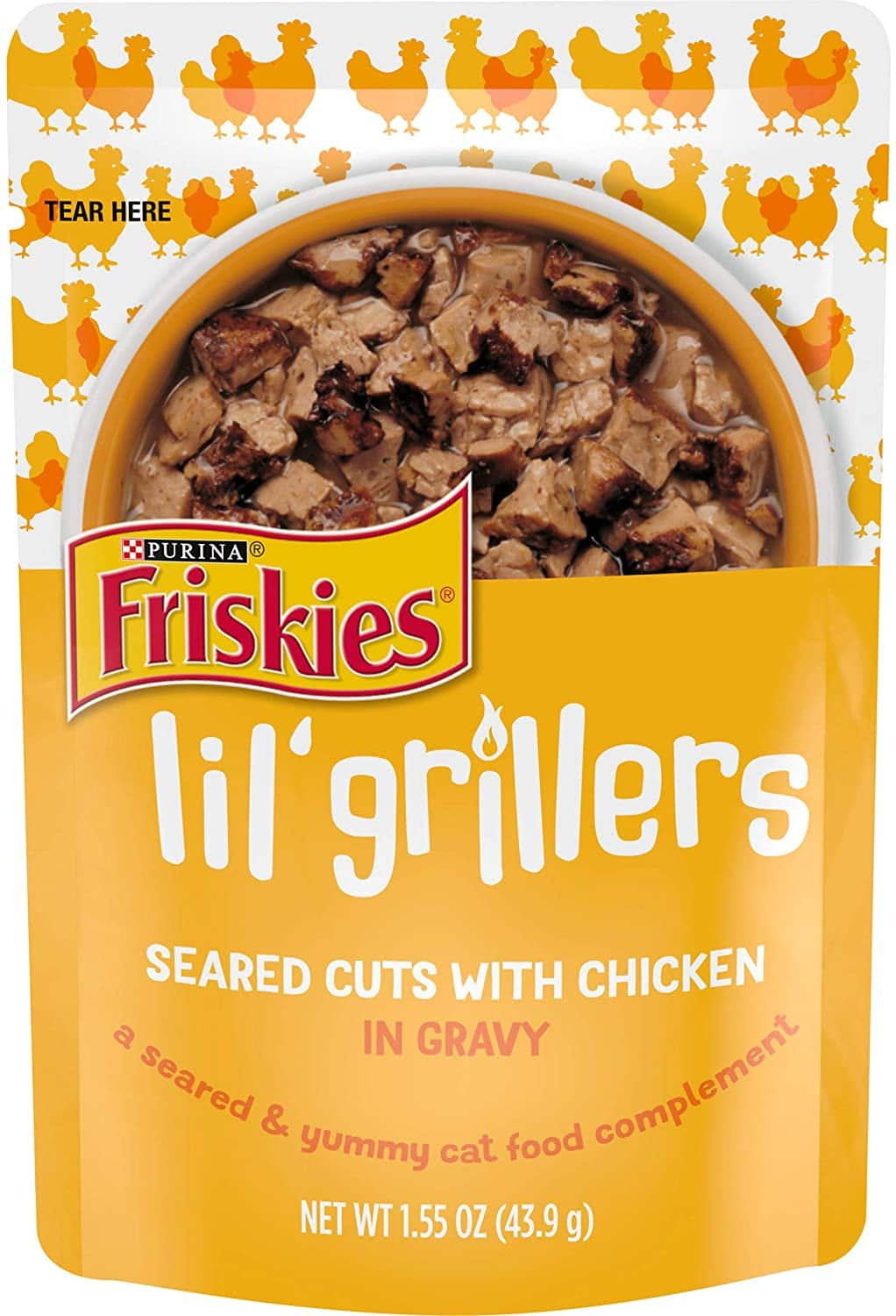 16-Pack 1.55-Oz Friskies Lil' Grillers Wet Cat Food Pouches (Seared Cuts w/ Chicken) $7.02 + Free S&H w/ orders $49+ ~ Chewy