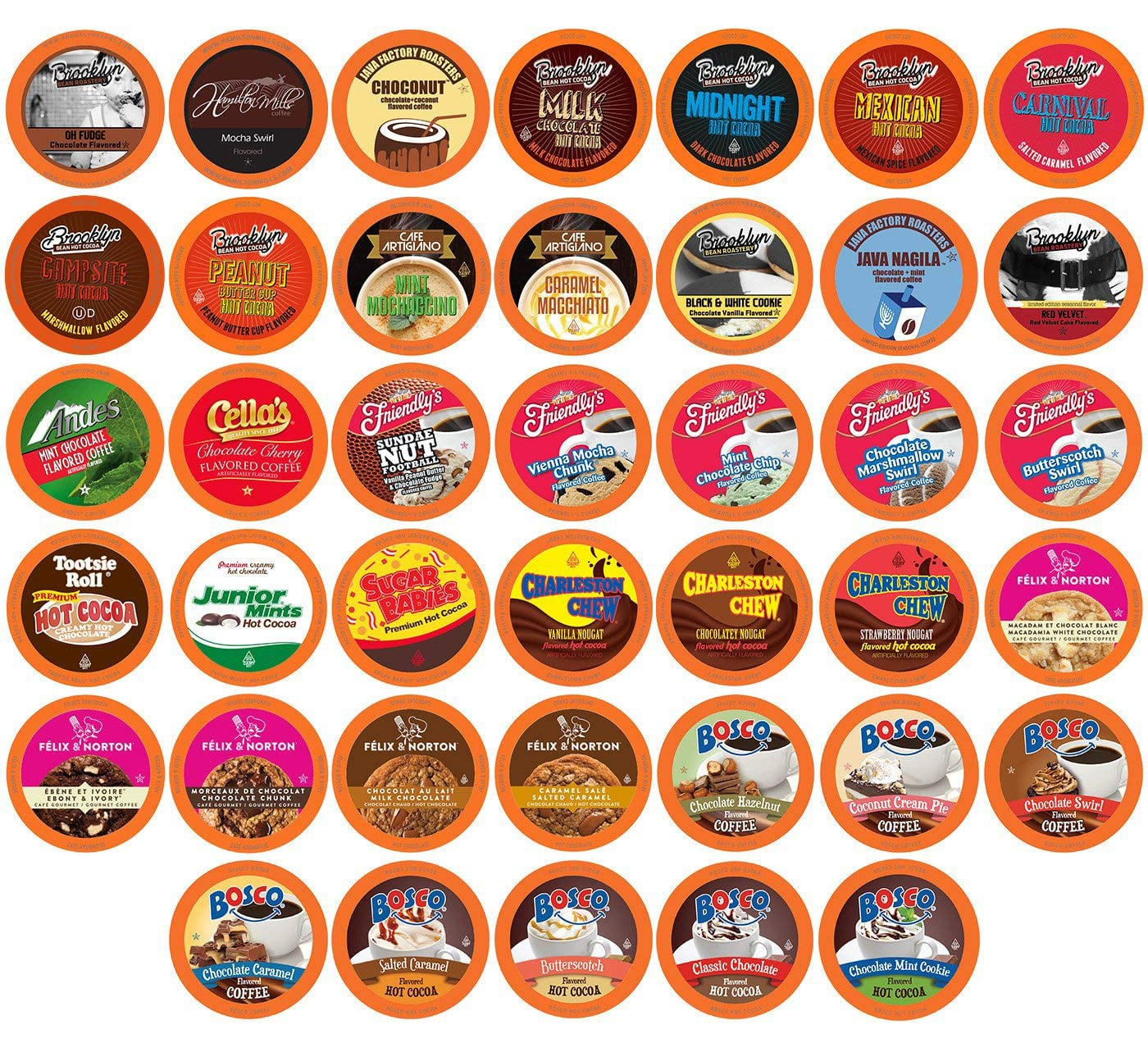 40-Count Two Rivers Coffee Hot Chocolate and Coffee K-Cup Pods (Chocoholic Assorted Variety Pack) $10.75 + Free S&H w/ Prime or orders $25+ ~ Amazon