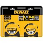 DeWalt 25' and 16' Tape Measures $9 + Free Store Pickup ~ HomeDepot *YMMV*