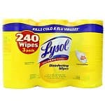 3-Pack Lysol Disinfecting Wipes in Lemon & Lime Blossom Scent (80-count each)