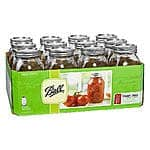 12-Pack 32oz. Ball Mason Jars $8.79, 12-Pack 8oz. Ball Mason Jars $7.19 & More + Free Store Pickup ~ Kmart