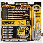 DeWalt: 46-Piece Maxfit Screwdriver Set w/ Screw Lock $9.94, 4-Piece High-Speed Steel Spade Bit Set $4.99 + Free Store Pickup ~ Home Depot