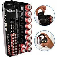 Rakuten Deal: 2-Pack Battery Organizer and Tester (each holds up to 70 batteries) $12 + Free Shipping (New Customers Only)