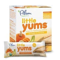 Amazon Deal: 6-Pack of 3oz Plum Organics Little Yums Teething Wafers (Pumpkin Banana)