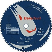 "Sears Deal: Bosch 12"" 60-Tooth Daredevil Table And Miter Saw Blade (Fine Finish) $24.29 + Free Store Pickup"