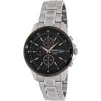 Shnoop Deal: Seiko Men's Black Dial Chronograph Stainless Steel Watch