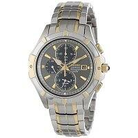 Shnoop Deal: Seiko Men's Coutura Two-Tone Gray Dial Chronograph Watch w/ Sapphire Crystal