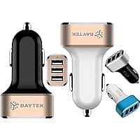 iTechDeals Deal: 3-Port Baytek 5.1A USB Car Charger: 2 for $18 or 1 for