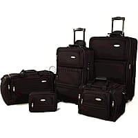 BuyDig Deal: 5-Piece Samsonite Luggage Travel Set (Black or Red)