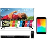 "BuyDig Deal: 49"" LG 4K Smart LED HDTV + 8GB 7"" LG G Pad Tablet + LG Soundbar $999 + Free Shipping"