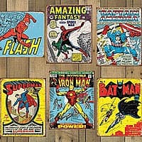 13deals.com Deal: Marvel & DC Comics Officially Licensed Tin Signs