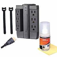 Kmart Deal: Alphaline TV Accessory Kit: 2x 9' HDMI Cables, 6 Swivel Outlet Surge Protector & Cleaning Kit $10 + Free Store Pickup ~ Kmart