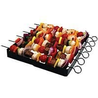 Home Depot Deal: 7-Pc Brinkmann Steel Shish Kabob Set (Folding Rack + 6 Skewers)