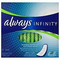 Amazon Deal: 16-Ct Always Infinity Heavy Flow Without Wings