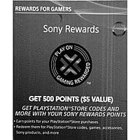 Boxed Deal Deal: 500 Sony Rewards Points ($5 Value) (Digital Delivery) $1.25