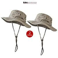Shnoop Deal: 2-Pack Khaki Boonie Outback Outdoors Sunhats by Totes-Isotoner
